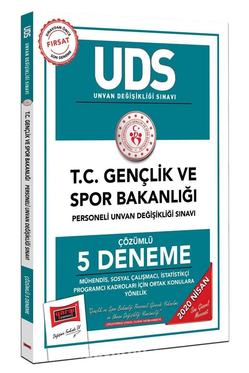 2020 UDS T.C. Gençlik ve Spor Bakanlığı Mühendis, Sosyal Çalışmacı, İstatistikçi Program Kadroları İçin Ortak Konulara Yönelik Çözümlü 5 Deneme