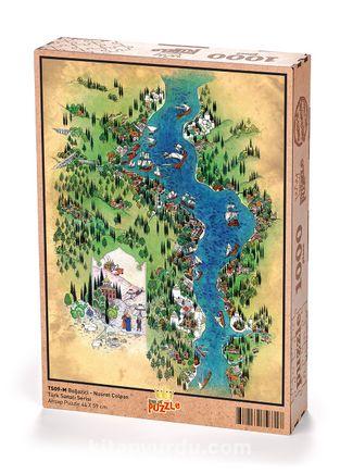 Boğaziçi - Nusret Çolpan Ahşap Puzzle1000 Parça (TS09-M)