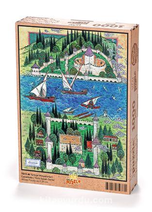 Türkiye Minyatürleri - Çanakkale - Nusret Çolpan Ahşap Puzzle 1000 Parça(TS11-M)