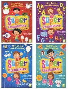 Okul Öncesi Zeka Etkinleri Süper Etkinler (4 Kitap Set) -  pdf epub