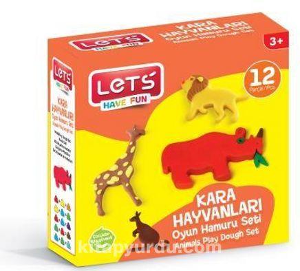 Lets Oyun Hamuru Kara Hayvanları Seti 12 Parça - (L8598)