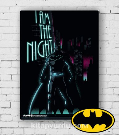 Ahşap Poster - Batman - I'm The Night (BK-BT160) Lisanslı Ürün