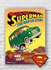 Ahşap Poster - Superman - The Man of Steel (BK-SM167) Lisanslı Ürün
