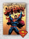 Ahşap Poster - Superman - Superhero (BK-SM166) Lisanslı Ürün
