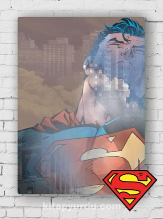 Ahşap Poster - Superman - Metropolis (BK-SM165) Lisanslı Ürün