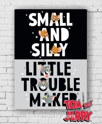 Ahşap Poster - Tom&Jerry - Silly and Trouble Maker (BK-TJ158) Lisanslı Ürün