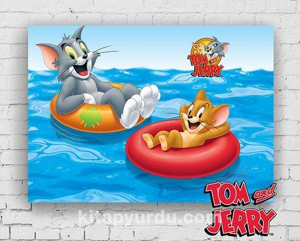 Ahşap Poster - Tom&Jerry - Beach Day (BK-TJ157) Lisanslı Ürün