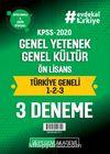 2020 KPSS Genel Yetenek Genel Kültür Ön Lisans Türkiye Geneli Deneme (1.2.3) 3'lü Deneme Seti