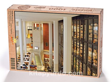 British Library Kütüphanesi - Londra / İngiltere Ahşap Puzzle 1000 Parça (KT23-M)