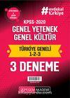 2020 KPSS Genel Yetenek Genel Kültür Türkiye Geneli Deneme (1.2.3) 3'lü Deneme Seti