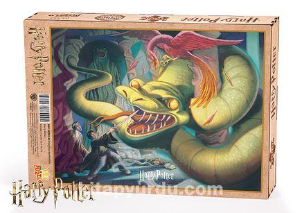Harry Potter - Defeating the Basilisk - Ahşap Puzzle 1000 Parça ( KOP-HP001-M) Lisanslı Ürün