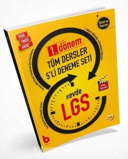 8. Sınıf LGS 1. Dönem Tüm Dersler 5'li Deneme Seti