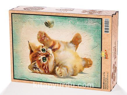 Kedicik ve Tuy Ahşap Puzzle 2000 Parça (HV70-MM)