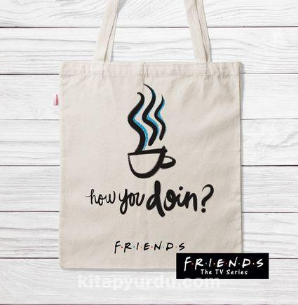 Askılı Bez Çanta - Friends - Coffe (BK-FR203) Lisanslı Ürün