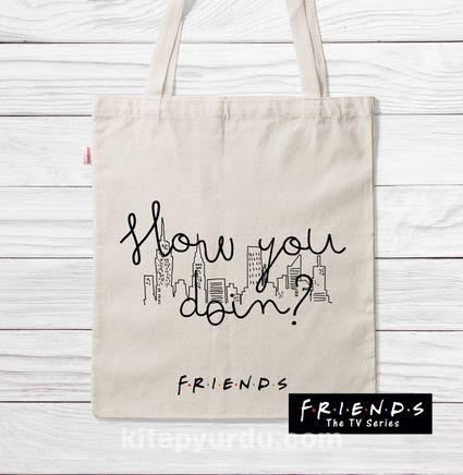 Askılı Bez Çanta - Friends - How You Doin (BK-FR202) Lisanslı Ürün