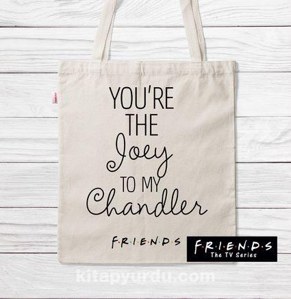 Askılı Bez Çanta - Friends - Joey to My Chandler (BK-FR201) Lisanslı Ürün