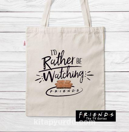 Askılı Bez Çanta - Friends - Watching (BK-FR198) Lisanslı Ürün