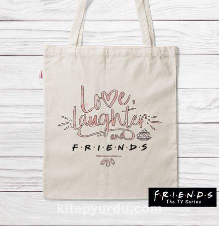 Askılı Bez Çanta - Friends - Laughter (BK-FR196) Lisanslı Ürün