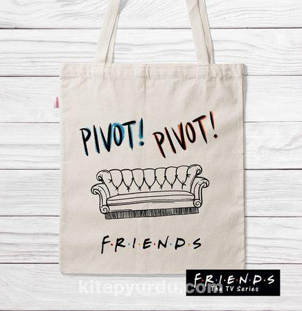 Askılı Bez Çanta - Friends - Pivot (BK-FR190) Lisanslı Ürün