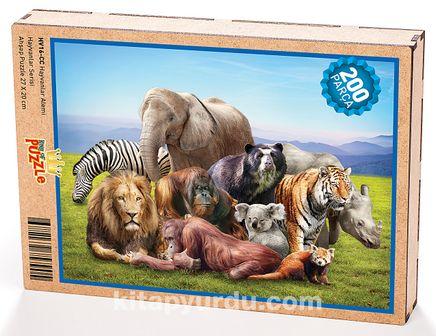 Hayvanlar AlemiAhşap Puzzle 204 Parça (HV16-CC)