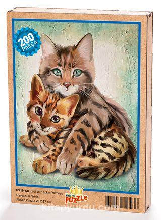 Kedi ve Kaplan Yavrusu Ahşap Puzzle204 Parça (HV19-CC)