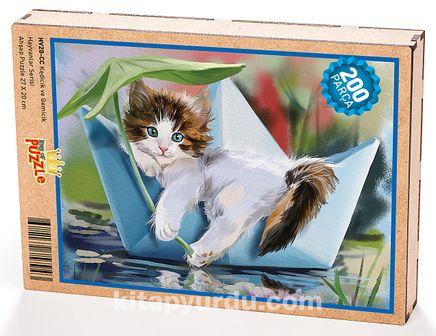 Kedicik ve Gemicik Ahşap Puzzle 204 Parça (HV20-CC)