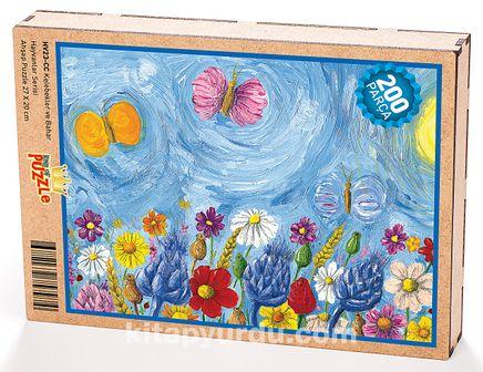 Kelebekler ve Bahar Ahşap Puzzle 204 Parça (HV23-CC)