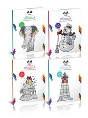 Çocuklar İçin Mandala Boyama Seti (4 Kitap)