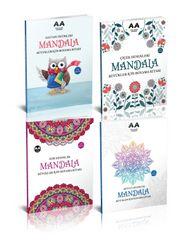 Yetişkinler İçin Mandala Boyama Seti 2 (4 Kitap)