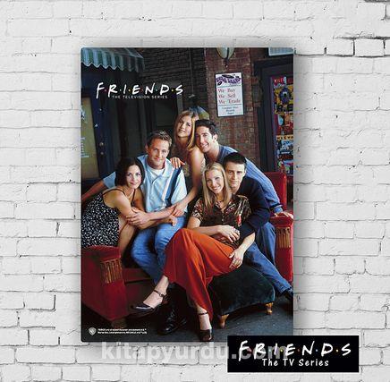 Ahşap Poster - Friends - Friends Together (BK-FR152) Lisanslı Ürün