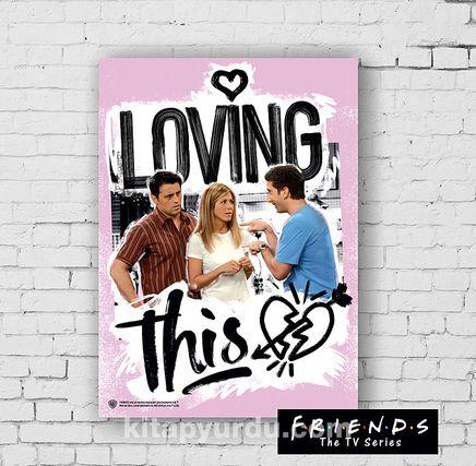 Ahşap Poster - Friends - Loving (BK-FR150) Lisanslı Ürün