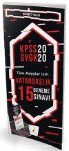 2020 KPSS Vatandaşlık 15 Deneme Sınavı Dijital Çözümlü