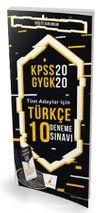 2020 KPSS Türkçe 10 Deneme Sınavı Dijital Çözümlü