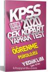 2020 KPSS Eğitim Bilimleri Öğrenme Psikolojisi Çek Kopart Yaprak Test