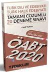 2020 KPSS ÖABT Türk Dili ve Edebiyatı Öğretmenliği Türk Halk Edebiyatı Tamamı Çözümlü 20 Deneme Sınavı
