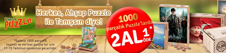 1.000 Parça Puzzle'larda 2 Al 1 Öde!