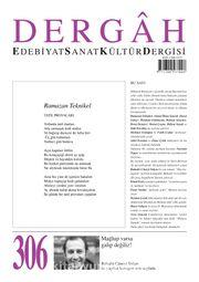 Dergah Edebiyat Sanat Kültür Dergisi Sayı:306 Ağustos 2015