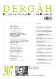 Dergah Edebiyat Sanat Kültür Dergisi Sayı:307 Eylül 2015