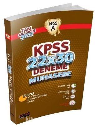 2016 KPSS 22x30 Deneme Muhasebe - Kollektif pdf epub