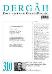 Dergah Edebiyat Sanat Kültür Dergisi Sayı:310 Aralık 2015