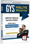 2016 GYS Maliye Bakanlığı Açıklamalı Soru Bankası