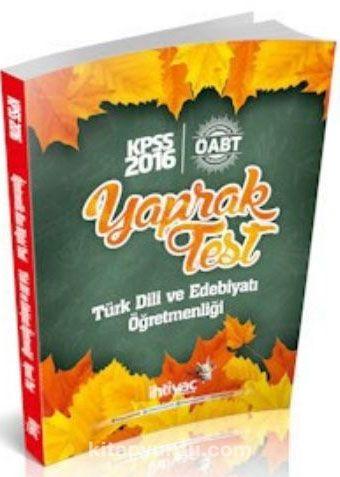 2016 KPSS ÖABT Türk Dili ve Edebiyatı Öğretmenliği Yaprak Test - Kollektif pdf epub