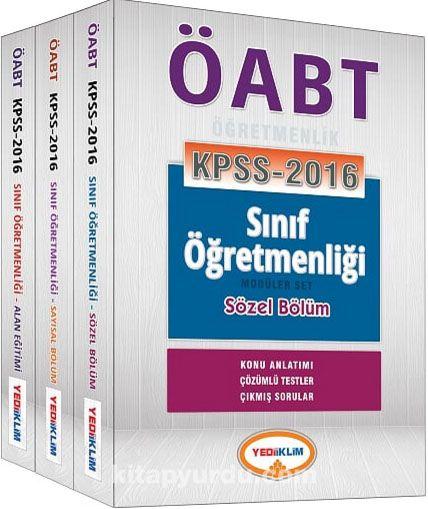2016 KPSS ÖABT Sınıf Öğretmenliği Konu Anlatımlı Modüler Set (3 Kitap) (Konu Anlatımı-Çözümlü Testler-Çıkmış Sorular) - Kollektif pdf epub