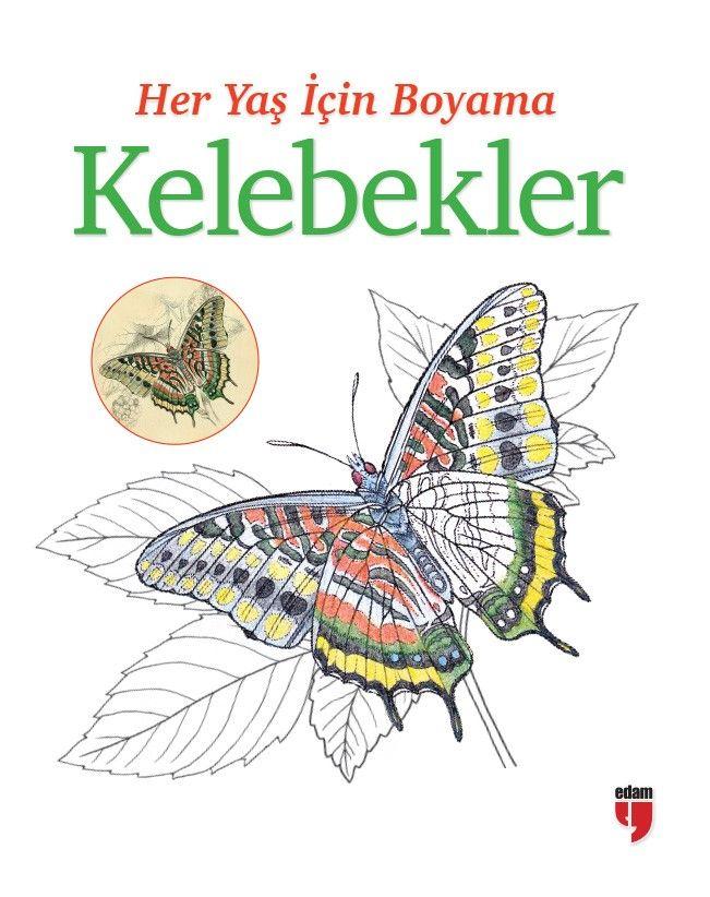 Her Yaş İçin Boyama - Kelebekler -  pdf epub