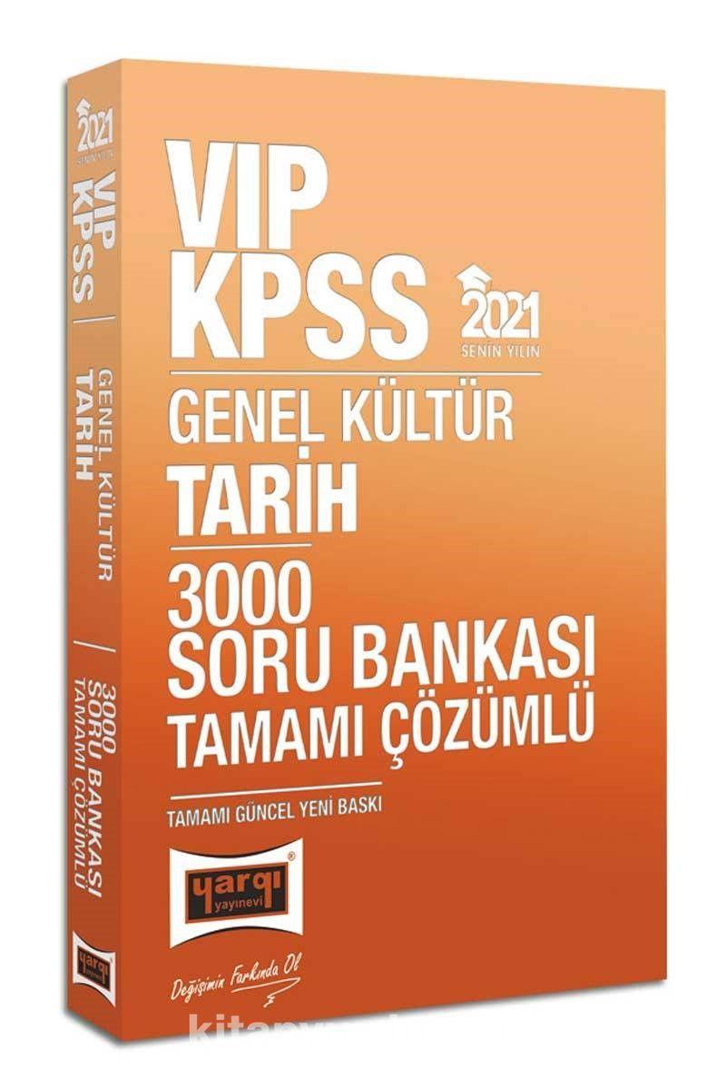 2021 KPSS VIP Tarih Tamamı Çözümlü 3000 Soru Bankası PDF Kitap İndir