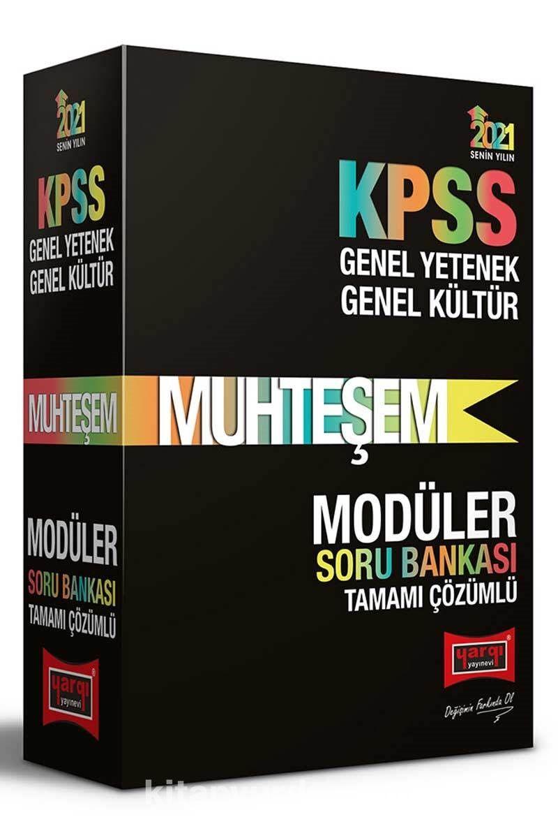 2021 KPSS Muhteşem Genel Yetenek Genel Kültür Tamamı Çözümlü Modüler Soru Bankası Seti PDF Kitap İndir
