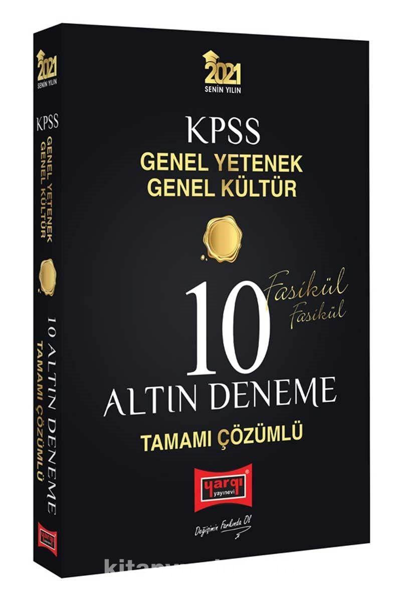 2021 KPSS Genel Yetenek Genel Kültür Tamamı Çözümlü 10 Altın Fasikül Deneme PDF Kitap İndir