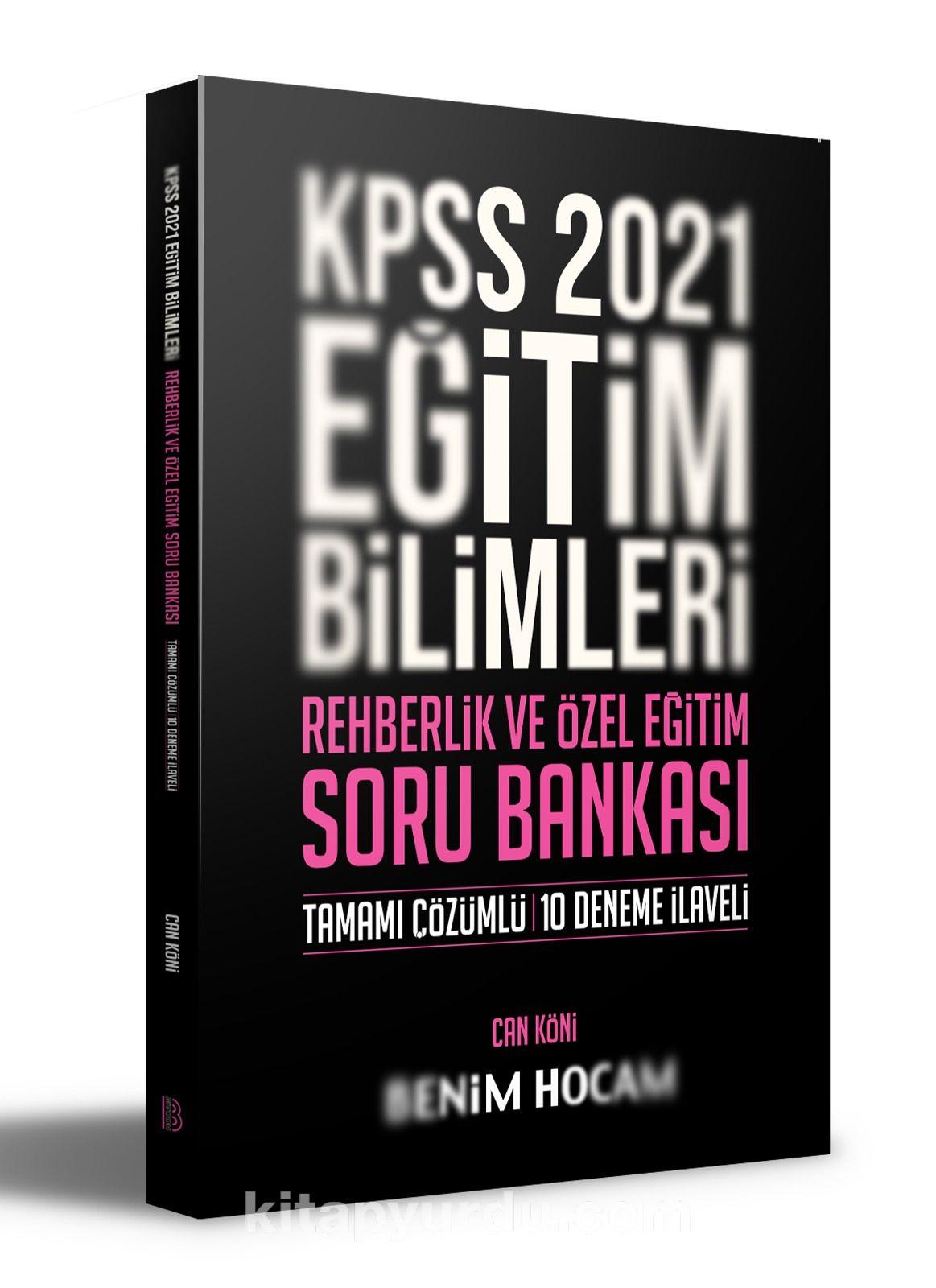 2021 KPSS Eğitim Bilimleri Rehberlik ve Özel Eğitim Soru Bankası Benim Hocam Yayınları   PDF Kitap İndir