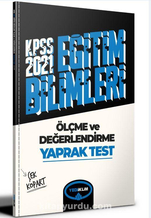2021 Kpss Eğitim Bilimleri Ölçme ve Değerlendirme Çek Kopart Yaprak Test  PDF Kitap İndir
