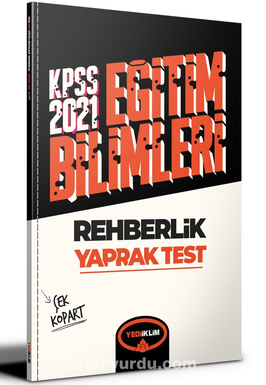 2021 Kpss Eğitim Bilimleri Rehberlik Çek Kopart Yaprak Test  PDF Kitap İndir